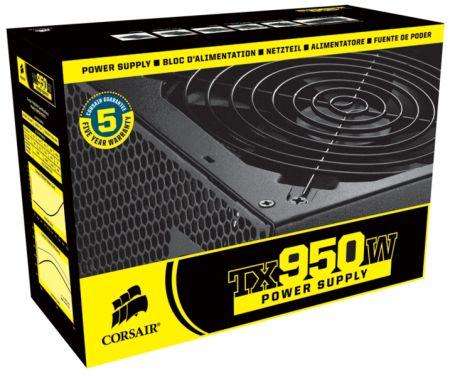 Corsair пополняет ассортимент мощным блоком питания TX950W