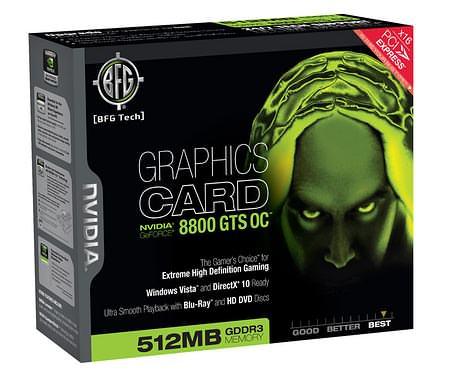 BFG NVIDIA GeForce 8800 GTS OC 512 MB — с фабричным разгоном и в ультрафиолете