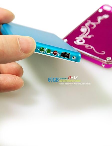 60-ГБ жесткий диск Tomato уместится не только в кармане, но и в бумажнике