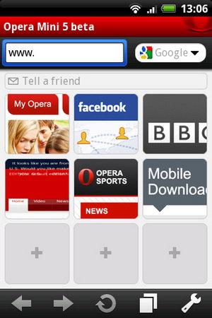 Google Android приняла финальную версию Opera Mini 5.1