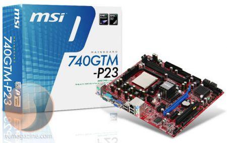 MSI выпустила бюджетную системную плату 740GTM-P23 для процессоров AMD AM2+