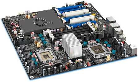 Intel D5400XS, двухпроцессорная плата с уникальным охлаждением